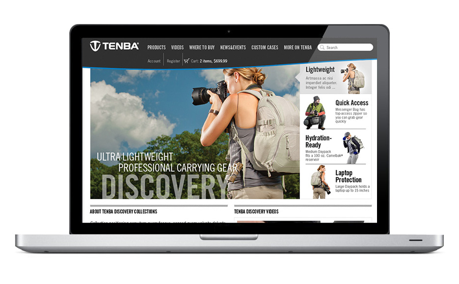 Tenba website